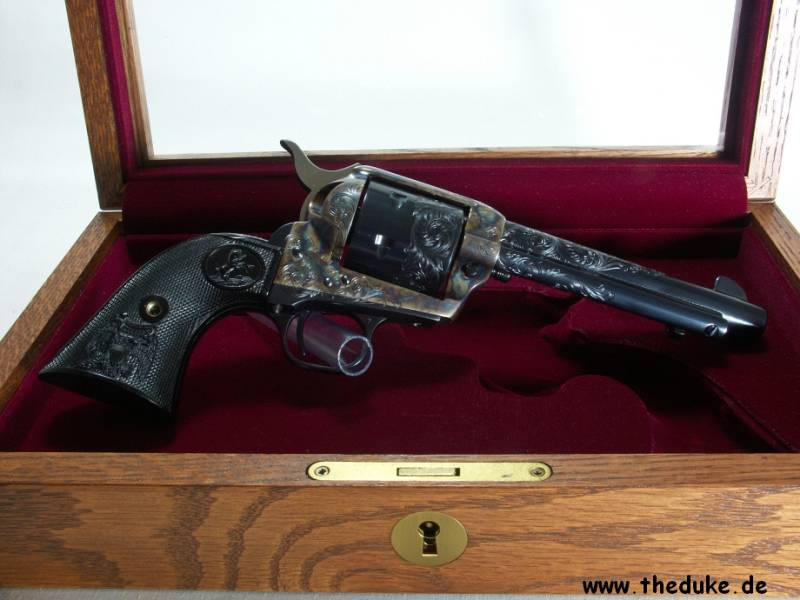 Colt SAA Custom Shop engraved